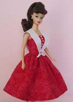 Ready Red - Vintage Barbie Doll Dress Reproduction Barbie Clothes on eBay http://www.ebay.com/usr/fanfare1901?_trksid=p2047675.l2559