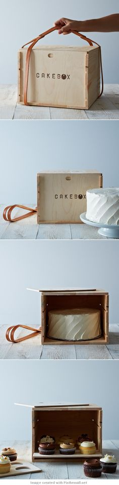 Cake box #packaging | Food52  Boxd, CakeBox, Cupcake, Cupcake Carrier, Cakes, Baking