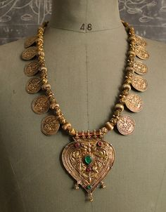 Indian tribal coin/ kasu necklace