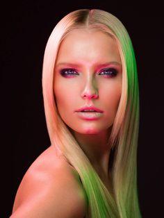 """The Face"" HIGHLIGHTS Magazine. Model Gintare S. by Stefka Pavlova, via Behance"