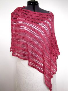 Summer poncho - Media - Knitting Daily.  I have a drop stitch pattern that could work with this design.  Want to do in my Blue Heron yarn
