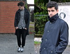 Our Legacy Funnel Jacket, Carhartt Chambray Shirt, All Saints Drop Croched Jeans, Nike Air Footscape Sneakers