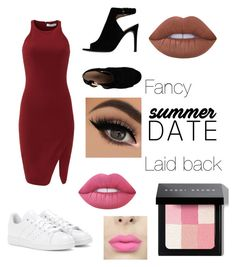 """""""Which one is your style"""" by icemaoffical on Polyvore featuring Elizabeth and James, adidas, Tory Burch, Lime Crime and Bobbi Brown Cosmetics"""