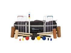 The 6 Player Family Croquet Set uniquely includes mallets of different sizes, making it the perfect Croquet Set For Kids. This set brings the fun of Croquet to the whole family! The Family Croquet Set is great value at only Family Croquet Set Popular Kids Toys, Set Game, Garden Games, Nylon Bag, Family Games, Activity Games, Dear Santa, New Toys, Tool Kit