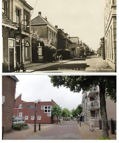 Dorpsstraat Zevenhuizen, bovenste foto kan ik mij nog goed herinneren zo zag het er in 1981 uit, onderste foto anno 2015 met een leegstand gemeentehuis Holland, Mansions, House Styles, Home Decor, The Nederlands, The Netherlands, Luxury Houses, Interior Design, Home Interior Design