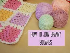 CROCHET LEFT HANDED: Joining granny squares for beginners, Bella Coco. Heres a video of how to join your granny squares. I will be using UK terms. missed the granny squares video? you can find it here: . Thanks for watching :) SHOP YOUR SUPPLIES Connecting Granny Squares, Joining Crochet Squares, Granny Square Crochet Pattern, Crochet Granny, Crochet Stitches, Crochet Patterns, Blanket Crochet, Knitting Patterns, Chrochet
