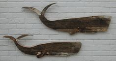 Whales made from an old musselling boat. www.fish-and-ships.com