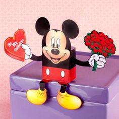 Disney Printable - #Mickey Mouse Character and Candy Box #Valentine's Day
