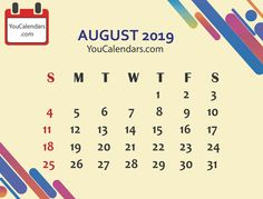 ✅Free August 2019 Calendar Printable Template - You Calendars Get Academic Calendar, School Calendar, Blank Calendar, Free Printable Calendar Templates, Printables, June 2019 Calendar, November 2019, Calendar Design, Perfect Image
