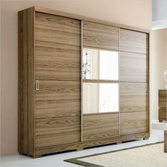 Good looking sliding doors for kids' closets.  Maybe frosted glass instead of mirrored metallic?