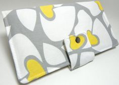 Handmade Long Wallet  BiFold Clutch Helen Grey and by faithonearth, $35.00