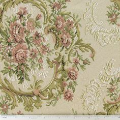 Natural Floral Tapestry Home Decor Fabric $9.09 per yard can buy by the bolt approx. 13 yrds in a bolt.