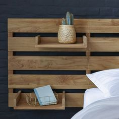Corner Headboard, Double Headboard, Modern Headboard, Storage Headboard, Wooden Bed Headboard, Reclaimed Wood Headboard, Diy Bett, Modular Shelving, Headboard Designs