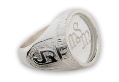 Custom Monogram Ring Sterling Silver And Engraved Stone by Regnas, $549.00