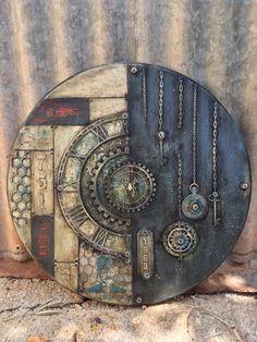 Bildresultat för Antonis Tzanidakis fear the deer Mixed Media Canvas, Mixed Media Collage, Collage Art, Collage Walls, Mixed Media Journal, Steampunk Crafts, Arte Country, Ceramic Wall Art, Assemblage Art