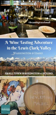Looking for a wine tasting adventure? The Lewis Clark Valley in Washington State and Idaho is the perfect place taste award-winning wines and take in plenty of scenic vistas.  #wine #Washington #Idaho