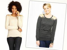 Sequin-Embellished Shoulder Sweater by Closet on OpenSky