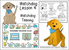 Watchdog Bible Lesson 4 - Watchdog Training from www.daniellesplace.com Sunday School Activities, Sunday School Lessons, Bible Lessons For Kids, Bible Crafts, Kids Church, Pop Up Cards, Learning Games, Naples, School Ideas