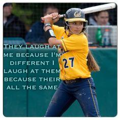 different is fun Softball Stuff, Got Game, Fastpitch Softball, Anti Bullying, Morals, My Passion, Lds, Slogan, Athlete