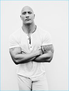 Showing off his biceps, Dwayne 'The Rock' Johnson appears in a photo shoot for People magazine.