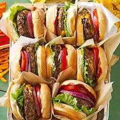 Whiskey Barrel Burgers From Better Homes and Gardens, ideas and improvement projects for your home and garden plus recipes and entertaining ideas.