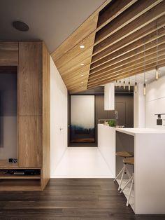 Dramatic Interior Architecture Meets Elegant Decor in Krakow - Sufey Home Decor… #kitcheninteriordesignwood