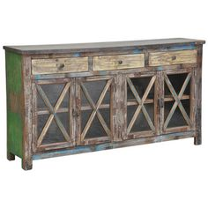 Snipe Distressed Reclaimed Wood Buffet Sideboard | Overstock.com Shopping - The Best Deals on Buffets