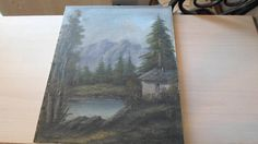 Landscape oil painting signed 1940's