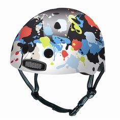 Nutcase helmets not only look good, but protect precious brains, with a hard shell and shock absorbing liner. Little Nutty helmets meet Australian and worldwide safety standards and are available in two sizes: S-M and L-XL Scooter Helmet, Bicycle Helmet, Bike, Paint Fight, Ford Anglia, Helmet Paint, Roller Derby, Sporty Look, Helmets