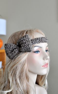 Items similar to Barley Bow Headband with Natural Vegan Coconut Shell Buttons - Adjustable on Etsy