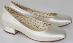 Fern CLEARANCE SALE  Ivory Satin Wedding Shoes By Perfect Bridal Shoes Image 1