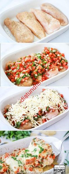 Salsa Fresca Chicken recipe Easy + Healthy + Delicious = BEST DINNER EVER! Salsa Fresca Chicken recipe is delicious! The post Salsa Fresca Chicken recipe appeared first on Gastronomy and Culinary. Healthy Food Recipes, Mexican Food Recipes, New Recipes, Cooking Recipes, Yummy Food, Family Recipes, Recipies, Recipes Dinner, Best Dinner Recipes Ever