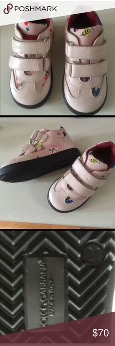 Dolce Gabbana girl's shoes NEW no box Beautiful pink leather shoes made in Italy. Velcro closure. European 21. See chart for sizing. Dolce & Gabbana Shoes Boots