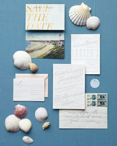 Wedding invites with a beachy feel. #NauticalJuly
