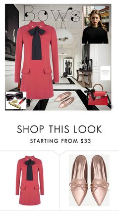 """bows"" by bluberry1975 ❤ liked on Polyvore featuring RED Valentino and Gucci"