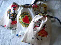 Portuguese Chita Bread Bags