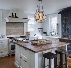 Kitchen with MARJORIE SKOURAS DESIGN HONEYCOMB PENDANT, Ballard Designs Copy Cat Chic Find Seeded Honey Comb Pendant