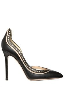 Valentino calf microstuds pointy pumps