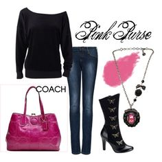 Pink Purse, created by polkadotmummy on Polyvore