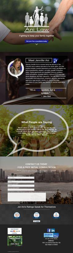 Anilaw.com web design by Autonomite Creative at Autonomite.net // Jennifer Ani renown family law attorney in San Francisco