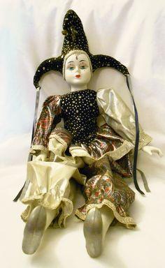 Harlequin Jester Doll. $9.97, via Etsy.