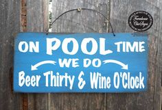 pool signs pool decor pool party pool decorations beer