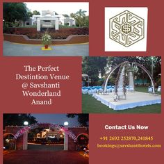 Book a Party Plot now For Wedding, Reception, Social Functions at #SAVSHANTI #WONDERLAND #Anand  http://savshantihotels.com/savshanti_wonderland/index.html Contact Us Now : +91 2692 252870, 241820