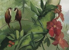 Interior Place - Tropical Forest Mural Style Border 6 Inches, 27.22 € (http://www.interiorplace.com/tropical-forest-mural-style-border-6-inches/)