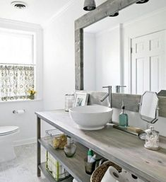 Incredible Scandinavian Bathroom Ideas You Will Totally Love #bathroom #bathroomdecor #scandinavianbathroomideas Modern Country Bathrooms, Country Bathroom Vanities, Bathroom Vanity Decor, Bathroom Images, Rustic Bathrooms, Bathroom Styling, Small Bathroom, Bathroom Ideas, Vanity Sink