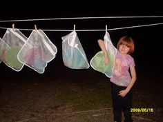 Easy way to do dishes with a big group of campers. Everyone washes their own and no one needs to dry!