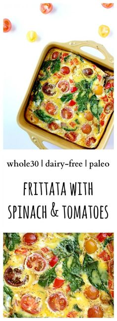 Dairy Free Frittata With Spinach & Heirloom Tomatoes  #justeatrealfood #bravoforpaleo