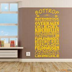 "Wandtattoo ""Stadtviertel Bottrop"" - ab 19,95 € | Xaydo Folientechnik"