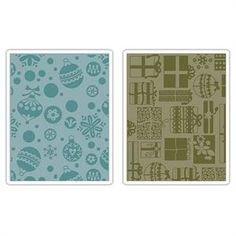 Sizzix Embossing Folders - Basic Grey / Gifts, Ornaments & Snowflakes
