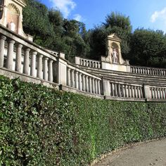 The Gardens, behind the Pitti Palace the main seat of the Medici grand dukes of Tuscany at Florence.
